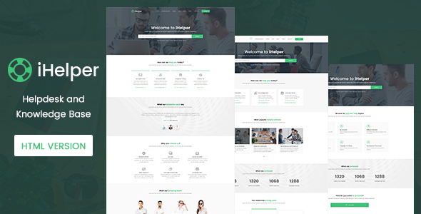 iHelper - Helpdesk and Knowledge Base Template HTML            TFx