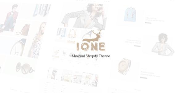 iOne - Minimal Responsive Shopify Theme            TFx