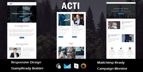 Acti - Multipurpose Responsive Email Template + Stampready Builder            TFx