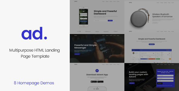 Advent Multipurpose Landing Page Template            TFx