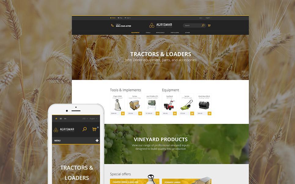 Agrismar - Agriculture Store PrestaShop Theme TMT