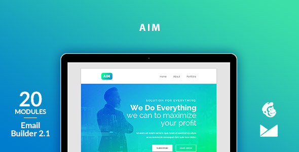 Aim Email Template + Online Emailbuilder 2.1            TFx