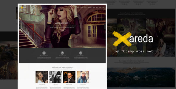 Areda - Creative Portfolio Blogger Template            TFx