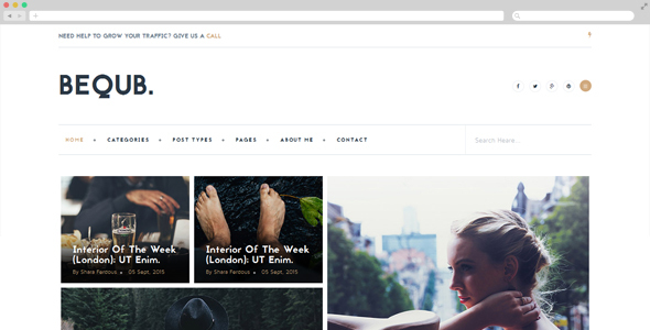 BEQUB - The Bloger HTML5 Responsive Template            TFx