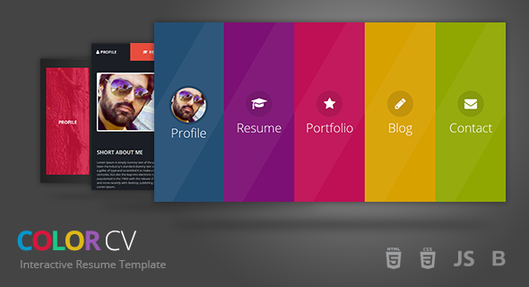 ColorCV - Interactive Resume Template            TFx