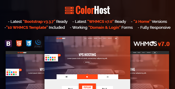 ColorHost | Responsive HTML5 Web Hosting and WHMCS Template            TFx