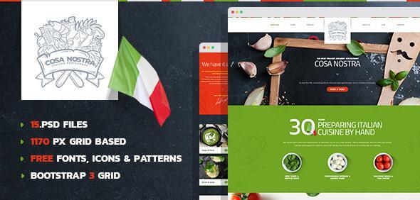 CosaNostra - Italian Restaurant PSD Template            TFx