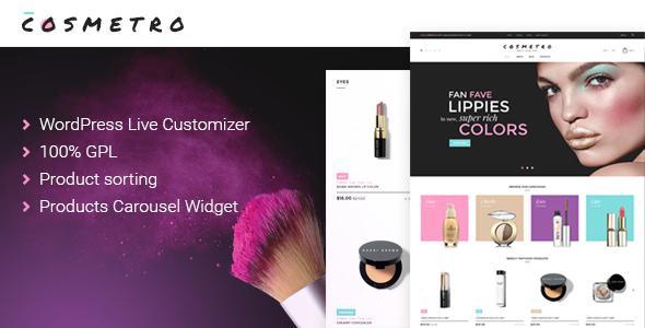 Cosmetro - Cosmetics Store WooCommerce Theme            TFx