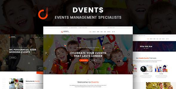 DVENTS - Events HTML Template            TFx