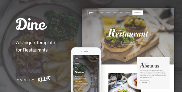 Dine - A Unique Restaurant Template            TFx