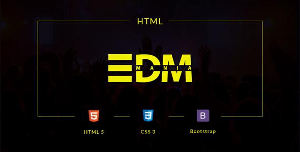EDMania - EDM & Music Template            TFx