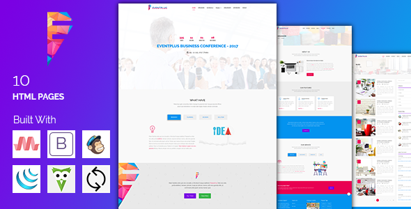 EVENTPLUS - Conference & Event Management Responsive Theme            TFx