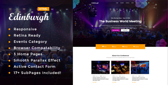 Edinburgh - Conference & Event HTML Template            TFx