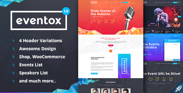 Eventox | Event Concert & Conference HTML Template            TFx