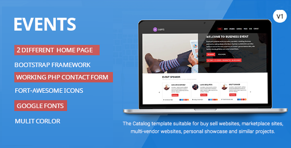 Events-Responsive HTML Template            TFx
