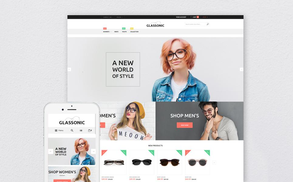 Eye Glasses Responsive Magento Theme TMT