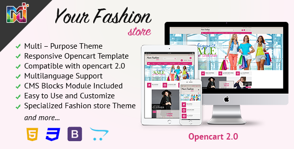 Fashion Store Responsive - OpenCart Template            TFx