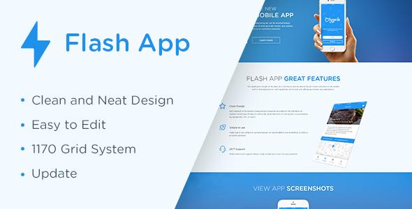 Flash App Landing Page            TFx