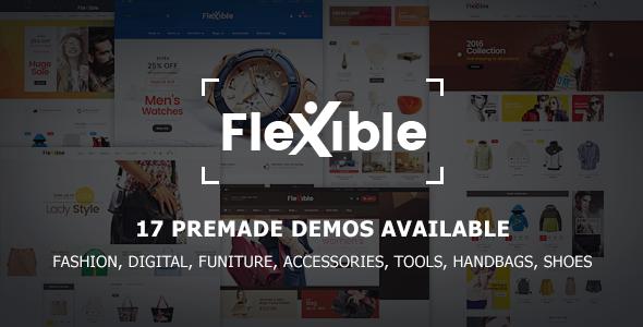 Flexible - Multi-Store Responsive Magento 2 Theme | 17 Premade Demos Available            TFx