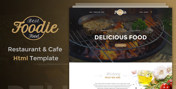 Foodie - Restaurant & Cafe Html Template            TFx