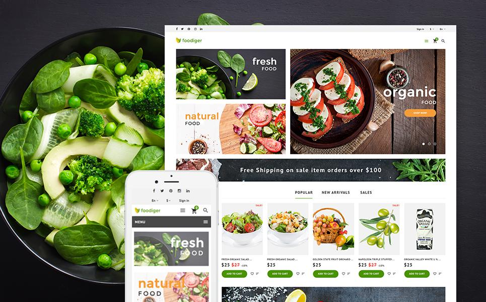 Foodiger - Grocery Store PrestaShop Theme TMT