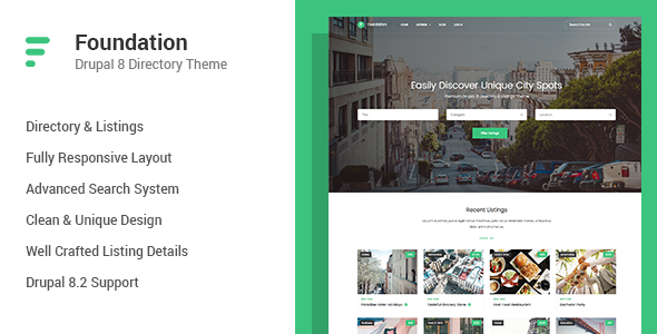 Foundation - Directory & Listings Drupal 8 Theme            TFx