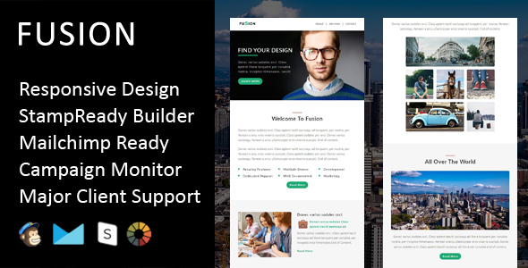 Fusion - Multipurpose Responsive Email Template + Stampready Builder            TFx