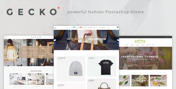 Gecko - Powerful Fashion, Organic Prestashop Theme            TFx