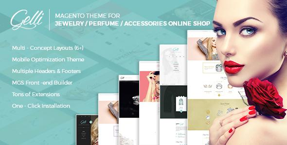Gelli - Magento Theme for Jewelry / Perfume / Accessories Online Shop            TFx