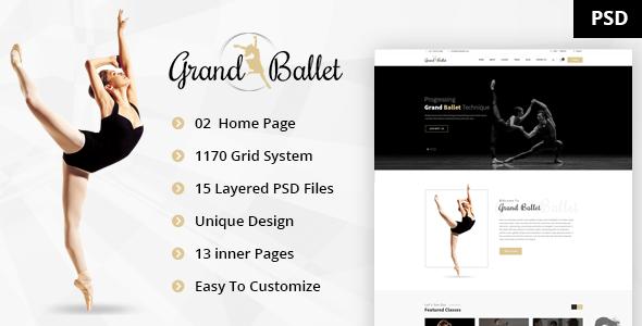 Grand Ballet - Creative Ballet PSD Template            TFx
