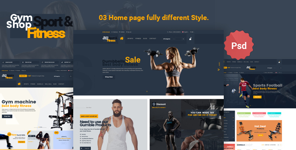 Gym_Shop eCommerce PSD Template            TFx