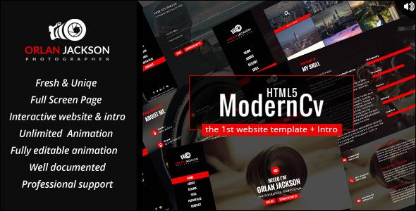 HTML5 Modern Cv            TFx