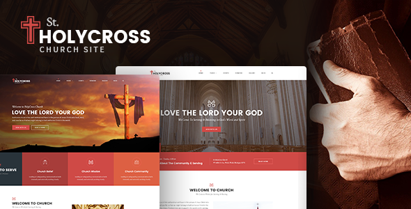 HolyCross - Church PSD Template (Charity, Event, Non-Profit, Donation)            TFx