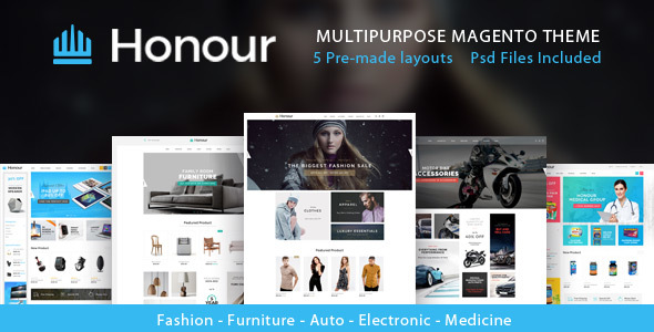 Honour - Multipurpose Responsive Magento2 Theme | Fashion Furniture Auto & Electronics & Medicine            TFx