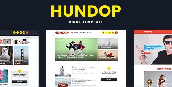 Hundop - Viral & Buzz PSD Template            TFx