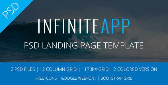 Infinite App Landing Page PSD Template            TFx