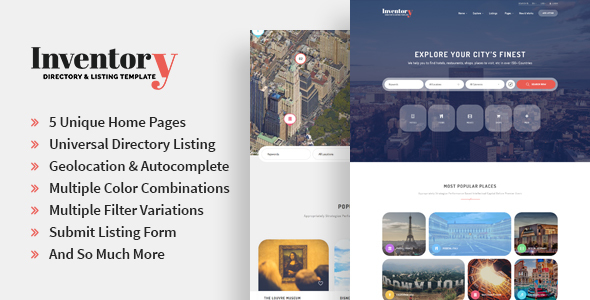 Inventory - Responsive Directory Geolocation & Listings HTML5 Template            TFx