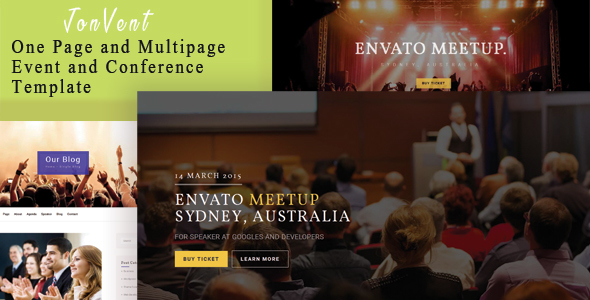 Jonvent - One Page and Multipage Event and Conference Template            TFx