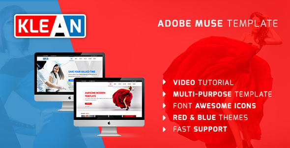 KLEAN | Multi-purpose Adobe Muse Template            TFx