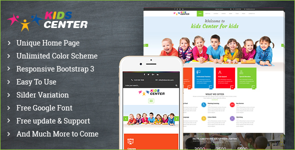 Kidcenter - Education Bootstrap Template            TFx