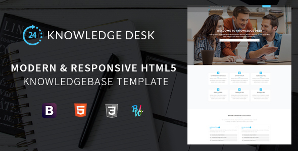 Knowledge Desk - Responsive Knowledgebase HTML5 Template            TFx