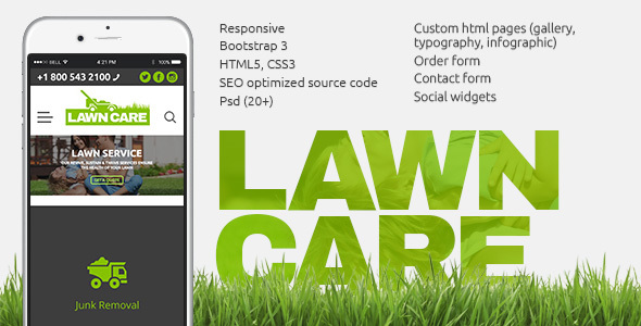 Lawn Care services - HTML template            TFx