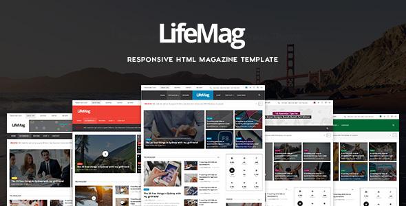 LifeMag - Responsive HTML Magazine Template            TFx