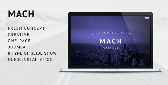 MACH - Fresh Concept One Page Creative Joomla Theme            TFx
