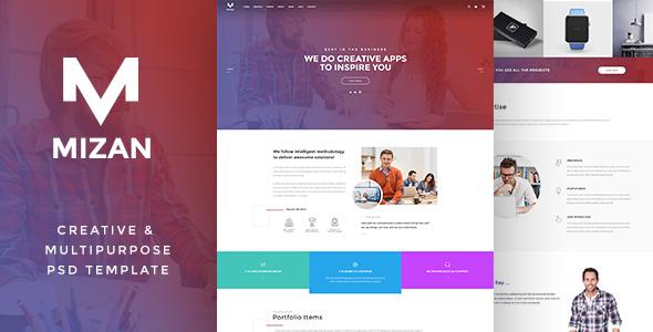 MIZAN  - Creative & Multipurpose PSD            TFx