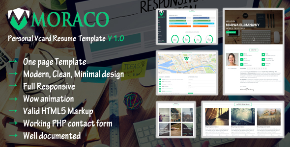 MORACO - Personal Vcard Resume HTML Template            TFx