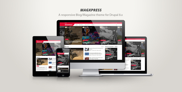 MagXpress - A responsive blog/magazine theme for Drupal 8.x            TFx