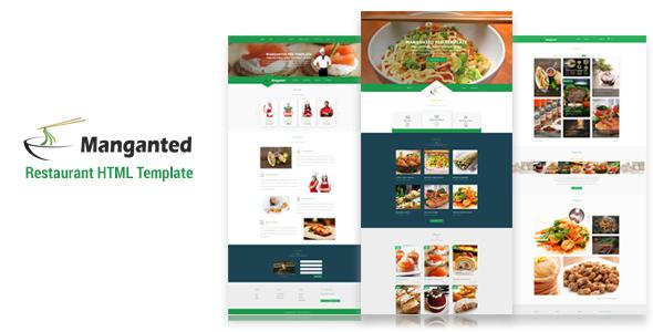 Manganted - Clean Restaurant HTML Template            TFx