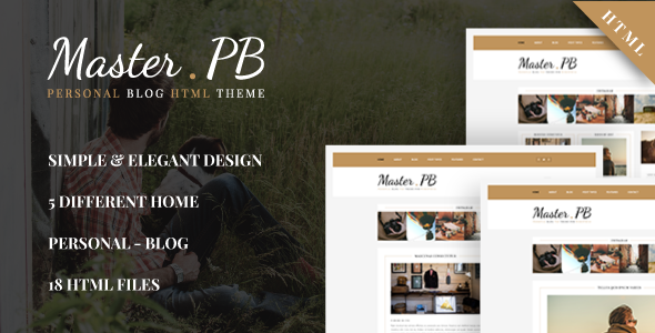 Master PB - Personal Blog HTML Template            TFx