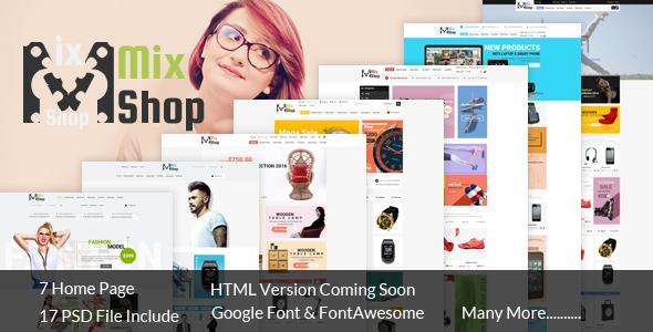 MixShop eCommerce PSD Template            TFx